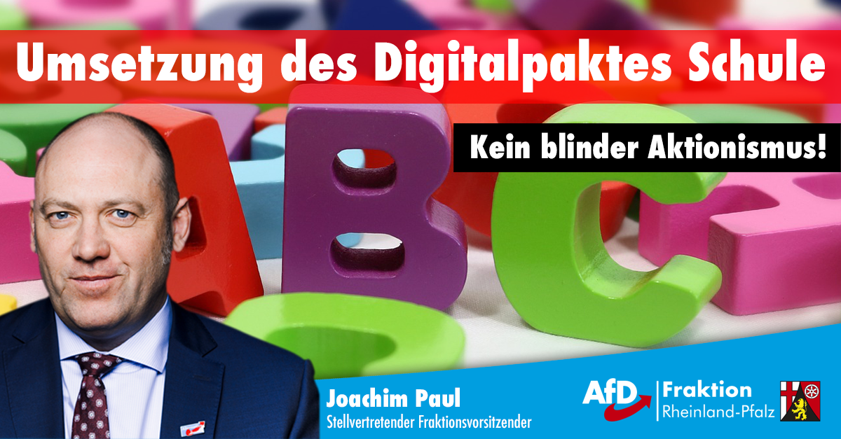Joachim Paul Digitalpakt in der Grundschule
