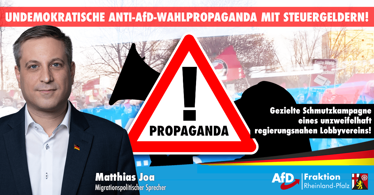 Anti AfD Wahlpropaganda